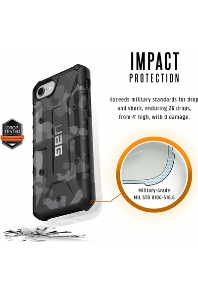 UAG Camo Apple iPhone 8/7/6S Kılıf - Turuncu