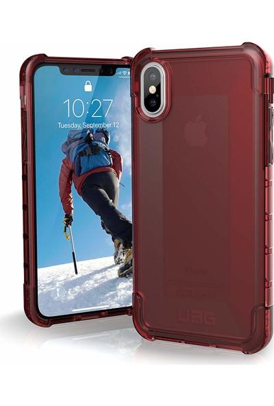 UAG Plyo Apple iPhone XS/X Kılıf - Kırmızı Saydam