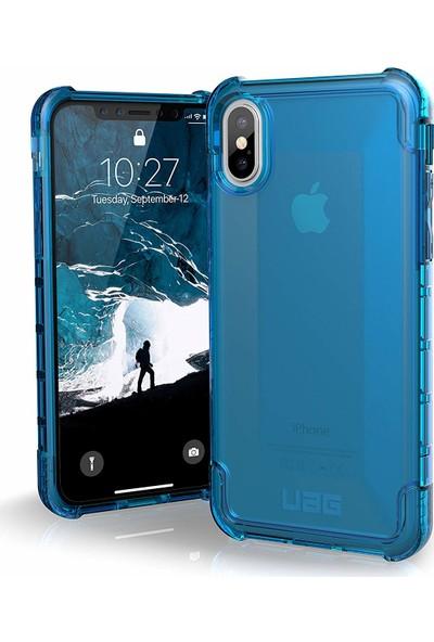 UAG Plyo Apple iPhone XS/X Kılıf - Mavi Saydam
