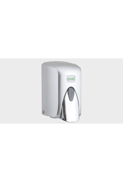 Vialli F5C Krom Görünümlü Hazneli Sıvı Köpük Sabun Dispenseri Aparatı - Duvara Monte - 500 Ml.