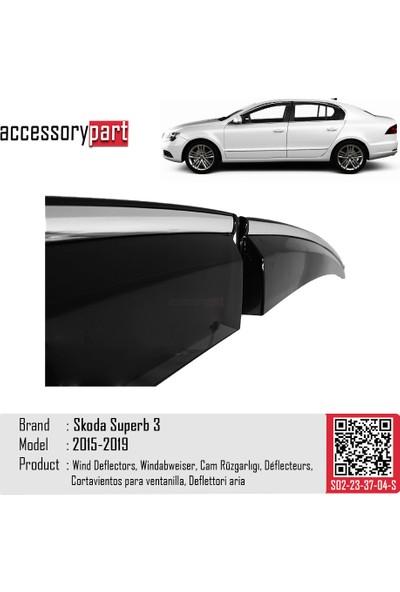 Accessorypart Skoda Superb 3 Cam Rüzgarlığı Kromlu Sport Model 2015-2019 Arası
