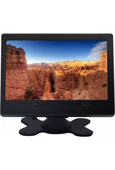 """Skylarpu LCD Monitör 7"""" 1080P HDMI + VGA + AV + Hoparlör CCTV Araç Monitör"""