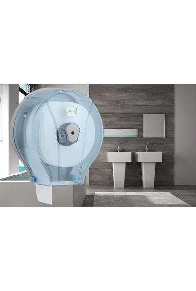 Vialli MJ1T Alttan Çekmeli Tuvalet Kağıdı Dispenser Aparatı Şeffaf Plastik