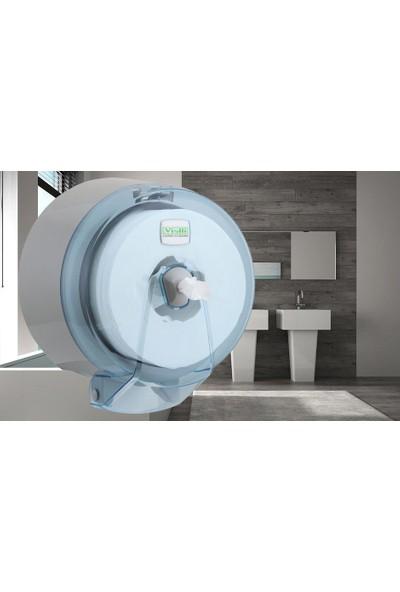 Vialli K9T Jumbo Içten Çekmeli Cimri Tuvalet Kağıdı Dispenseri Aparatı Şeffaf