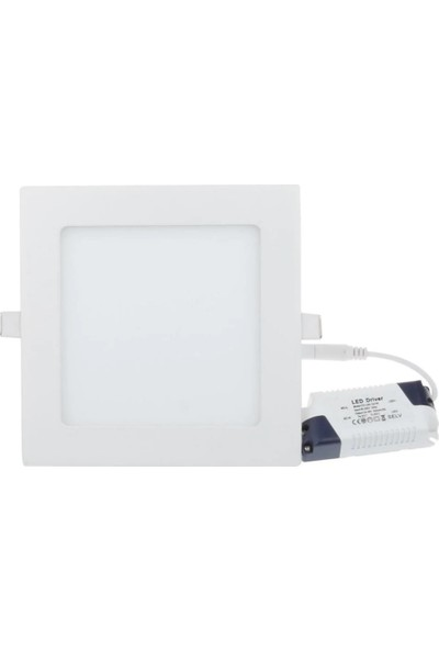 Led Pazarı 16 W Sıva Altı Slim LED Panel Kare