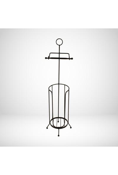 Desen Dekorasyon Tuvalet Kağıtlığı Ayaklı Metal