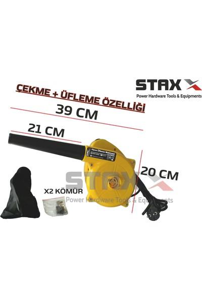 Staxx Power Elektrikli Hava Körüğü Üfleme Makinesi Emme Özellikli 6 Kademe Devir Ayarlı 800 w