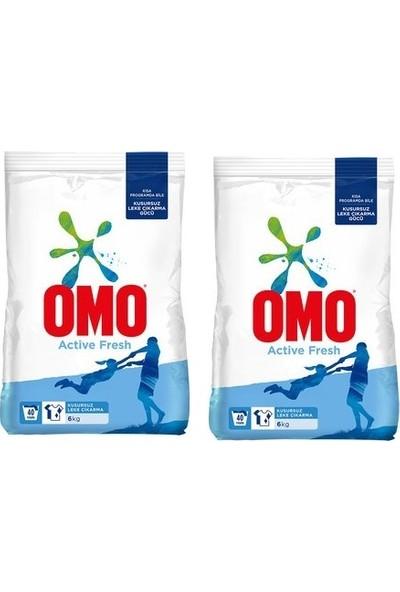 Omo Active Fresh Matik Toz Deterjan 6 kg Mükemmel Leke Çıkarma 2 Adet