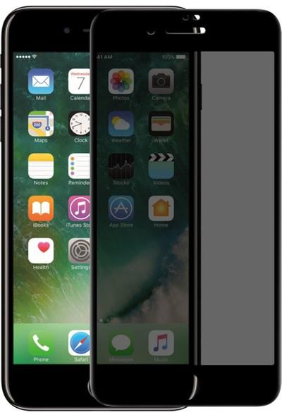 Ceptetech Apple iPhone 8 Plus 5d Kavisli Ekran Koruyucu - Siyah