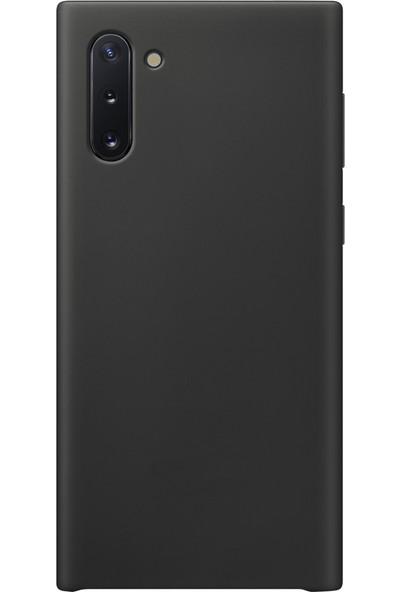 Mahtex Samsung Galaxy Note 10 Süper Silikon Kılıf Siyah
