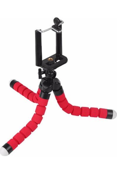 Techsmart Akrobat Süngerli Tripod Ayak 25 cm -Kırmızı-