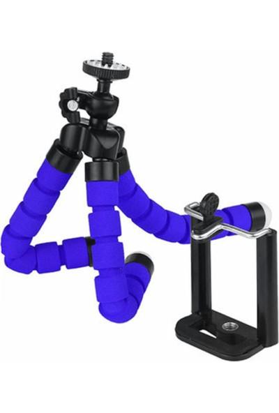 Techsmart Akrobat Süngerli Tripod Ayak 17 cm -Mavi-
