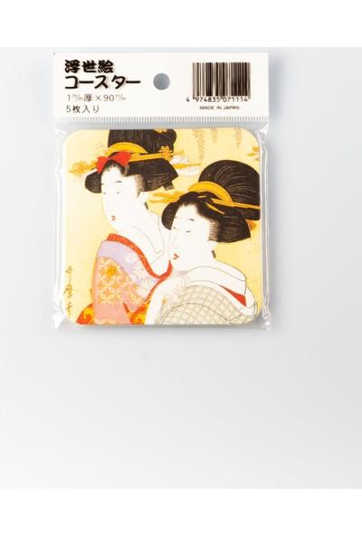 Japan Japon Karton Bardak Altlığı Beşli No.1