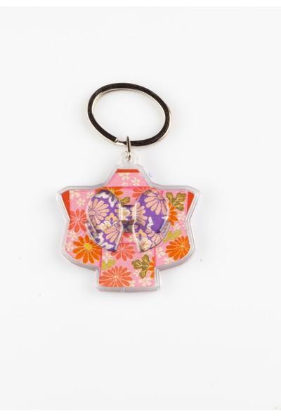 Daiso Japon Kimono Anahtarlık Pembe