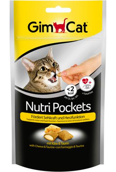 Gimcat Nutri Pockets 60 gr x 4 Adet Peynirli - Taurinli Kedi Ödül Maması