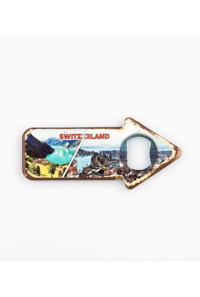 Dünyadan Hediyeler İsviçre Temalı Magnet Yön Açacak