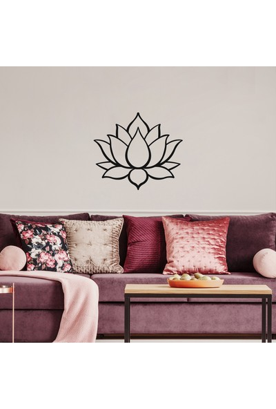 LİVİQN Lotus Çiçeği - Metal Decor