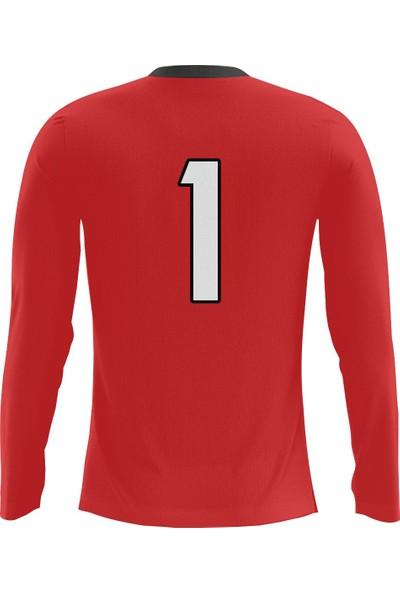 Freysport Crosswise Kırmızı Kaleci Forması - Sünger Takviyeli Kaleci Kazağı