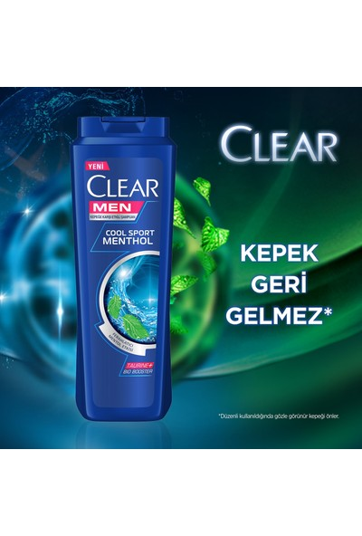 Clear Men Cool Sport Menthol Şampuan 350 ml