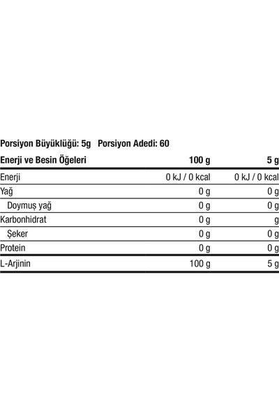 Xtreme Nutrition Arginine 300 gr (Aromasız) Saf Arjinin