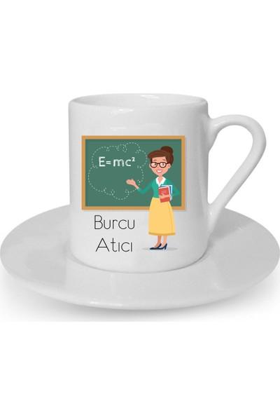 Mutlu Mutfak Atölye Kişiye Özel Türk Kahvesi Fincanı Öğretmenler Günü