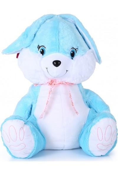 Selay Toys Büyük Boy Peluş Tavşan Mavi 80 cm