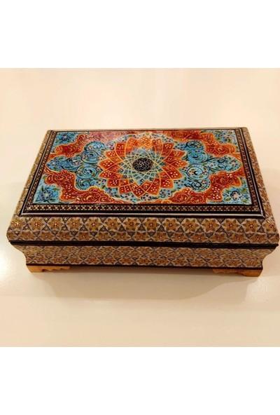 Erbişem Hatem El Sanatları Mücevher Kutusu (22X14 Cm)