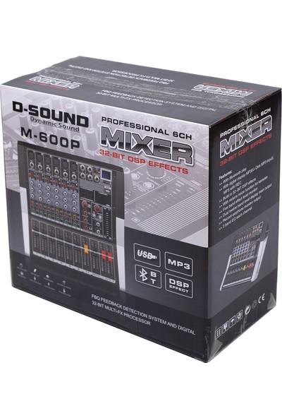 D-Sound M-600P 6 Kanal Power Mixer