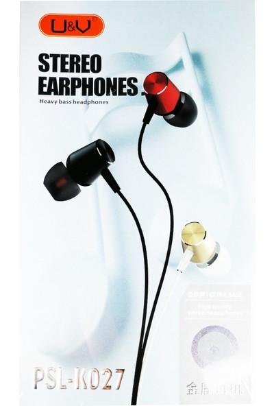 Yinwoxing X9 Mikrofonlu Kulakiçi Kulaklık Siyah