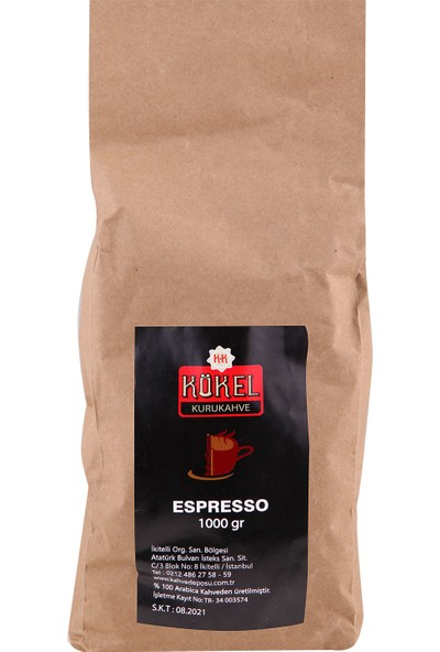 Espresso Kahve 1000 Gr.