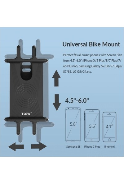 Vendas Bisiklet ve Motosiklet Telefon Tutucu - Siyah