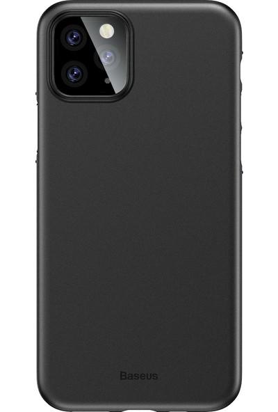 Vendas Apple iPhone 11 Pro Max İnce Silikon Kılıf Siyah + Vendas Tam Kaplama Ekran Koruyucu