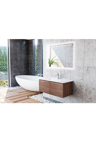 Bagnotti Aries 100 cm Glossmax Ceviz Banyo Dolabı
