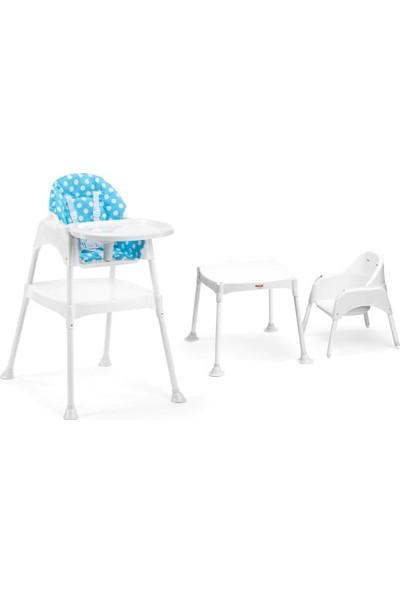 Moje Mama Sandalyesi Kılıflı Set Mavi Renk