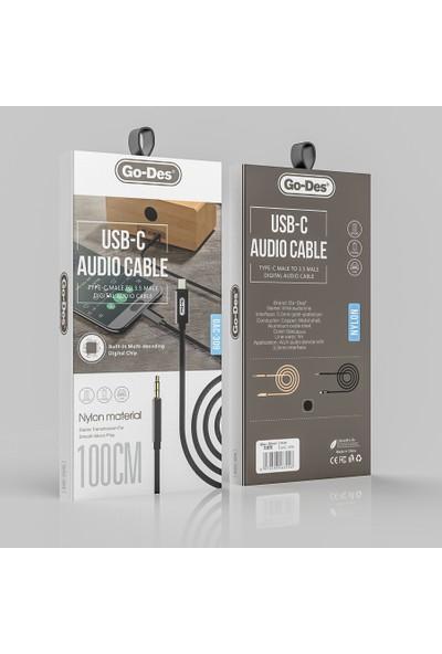 Go-Des GAC-309 Type-C To 3.5mm Aux Audio Kablo