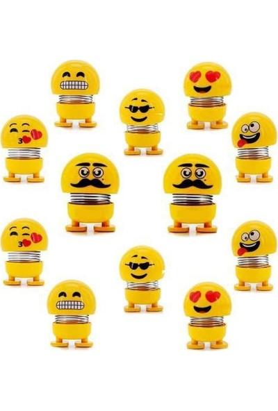 Birlik Emoji Çılgın Kafalar Sallanan Oyuncak 30 Adet