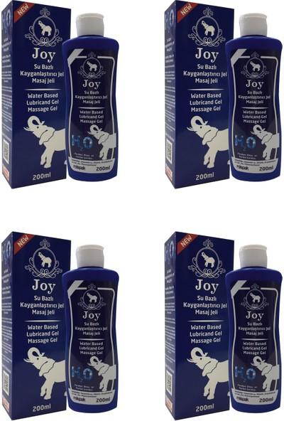 Joy Su Bazlı Kayganlaştırıcı 4'lü 200 ml Kokusuz ve Aromasız Masaj Jeli