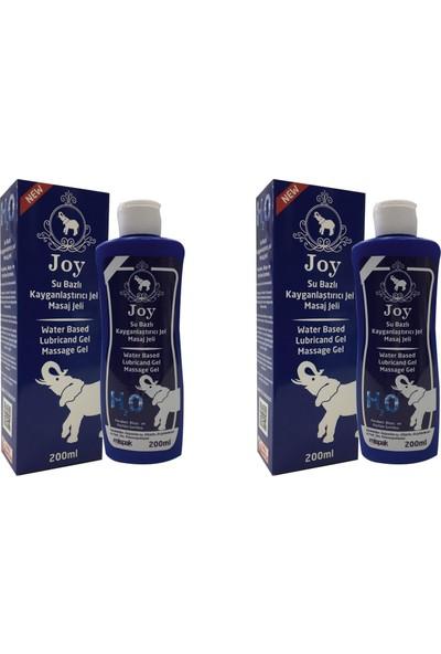 Joy Su Bazlı Kayganlaştırıcı 200 ml Kokusuz ve Aromasız 2'li Masaj Jeli