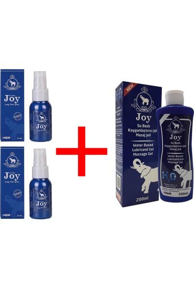 Joy Sprey 2'li + Joy Su Bazlı Kayganlaştırıcı Masaj Jeli 200 ml