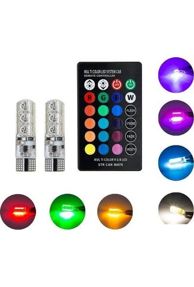 Demet Home T10 LED Kumandalı Çakarlı 18 LED Rgb Çakarlı LED Park