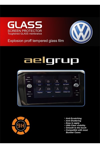"Aeltech Volkswagen Tiguan / T Roc 8"" Navigasyon Ekran Koruyucu"