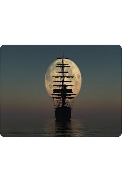 Wuw Issız Denizde Gemi Mouse Pad