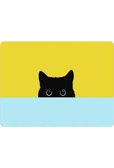 Wuw Siyah Kedi Mouse Pad
