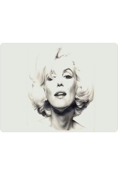 Wuw Marilyn Monroe Beyaz Mouse Pad