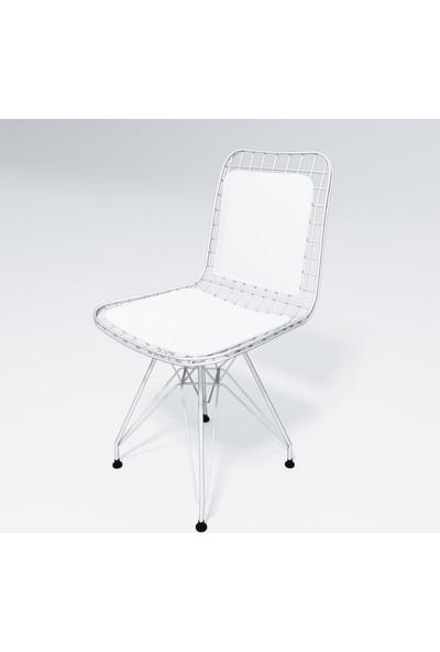 Kenz Life Knsz Kafes Tel Sandalyesi 1 Li Mazlum Byzbyz Sırt Minderli Ofis Cafe Bahçe Mutfak