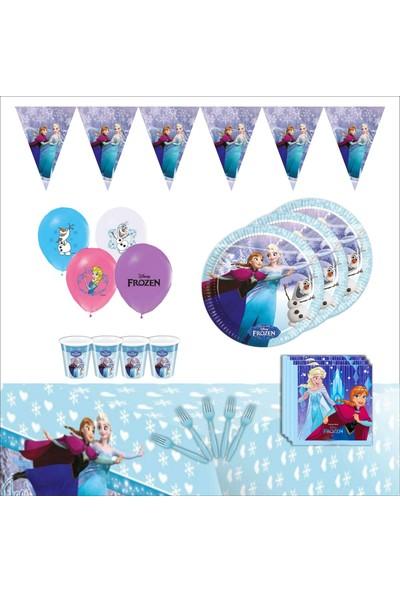 Bayhesaplı Elsa Frozen Doğum Günü Seti 08 Kişilik