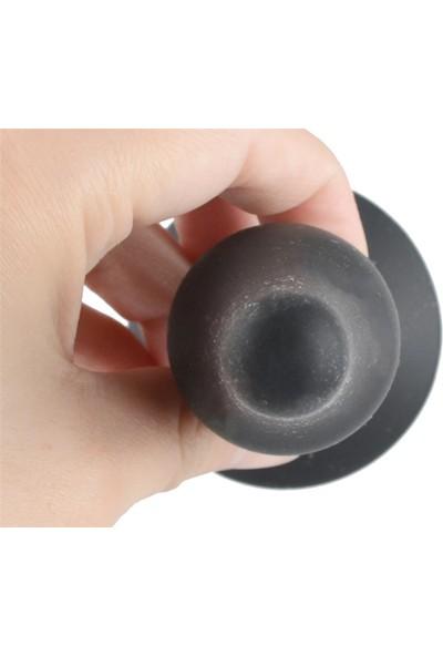 Dr. Love 11.5 cm Siyah Silikon Orta Boy Anal Plug