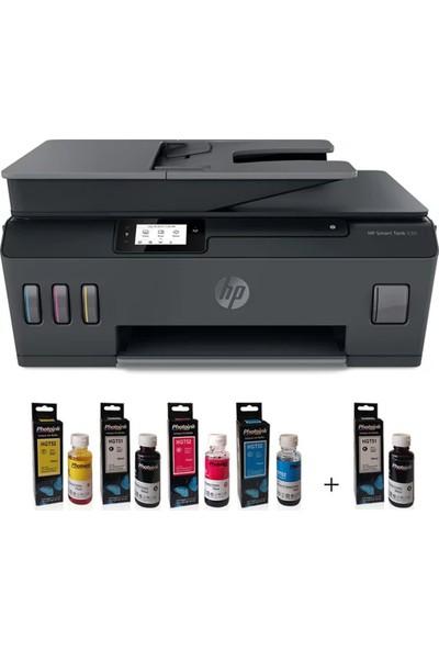 HP Smart Tank 530 4SB24A Wi-Fi + Tarayıcı + Fotokopi Renkli Çok Fonksiyonlu Tanklı Yazıcı + Photoink Mürekkep
