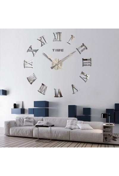 Dıy Clock Yeni Nesil 3D Duvar Saati Model 2 (Gümüş)