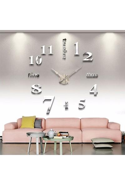 Dıy Clock Twelve Yeni Model Dekoratif Duvar Saati